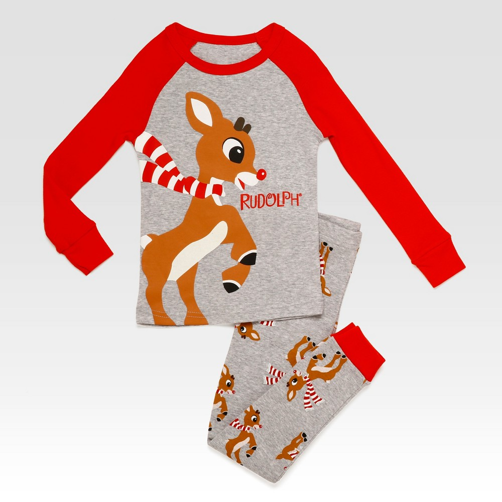 Pajama Set Rudolph the Red-Nose Heather Gray 3T, Toddler Boys