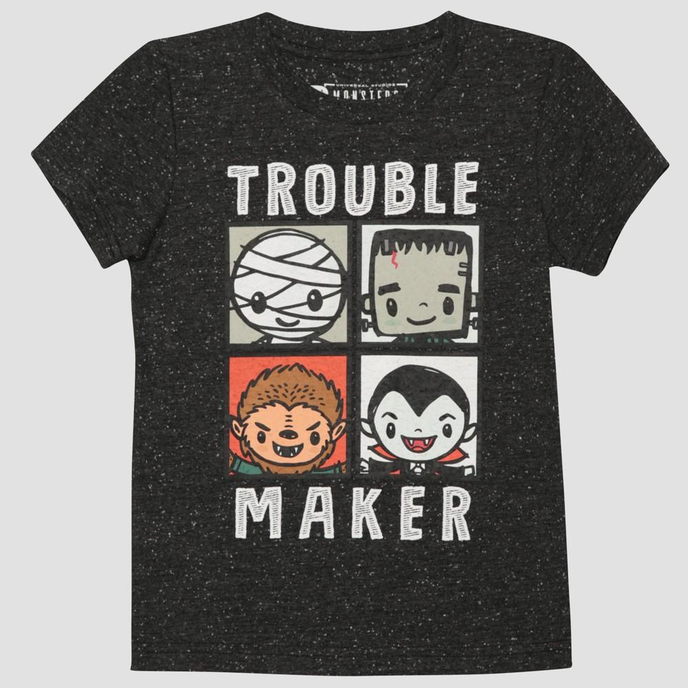 T-Shirt Universal Studios Monsters Black 4T, Infant Boys