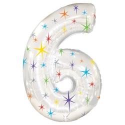"""6"" Sparkle Mylar Balloon, 38"""