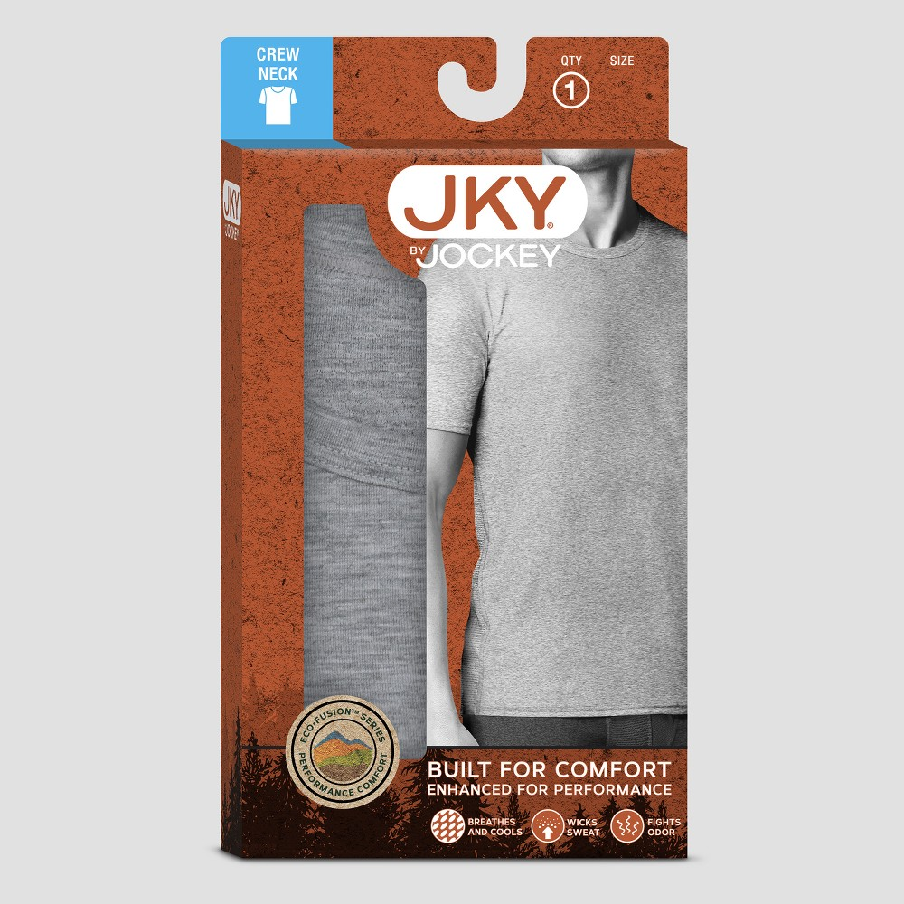 Jky by Jockey Mens Outdoor Eco-Fusion Crew Neck T-Shirt - Dark Gray L
