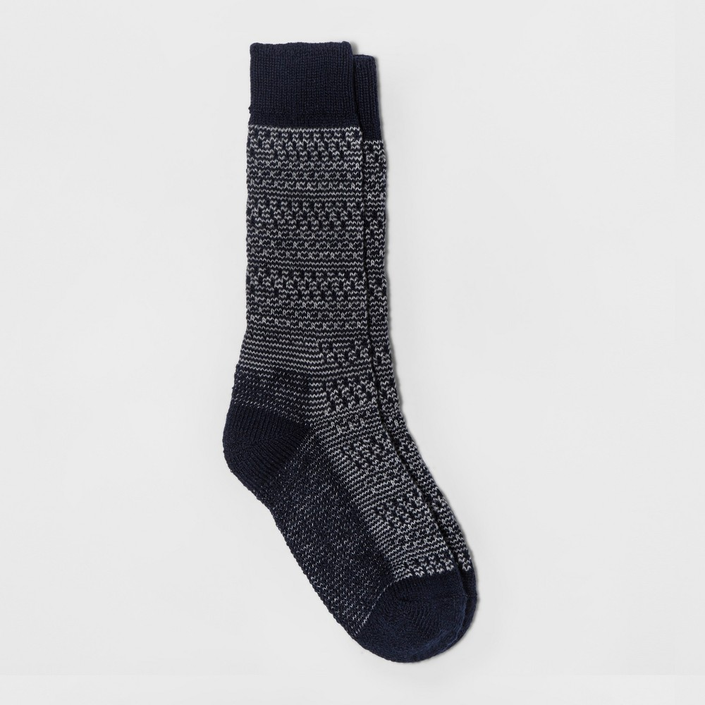 Womens Wigwam Textured Boot Sock - Navy (Blue) One Size