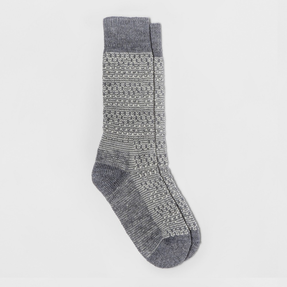 Womens Wigwam Textured Boot Sock - Gray One Size