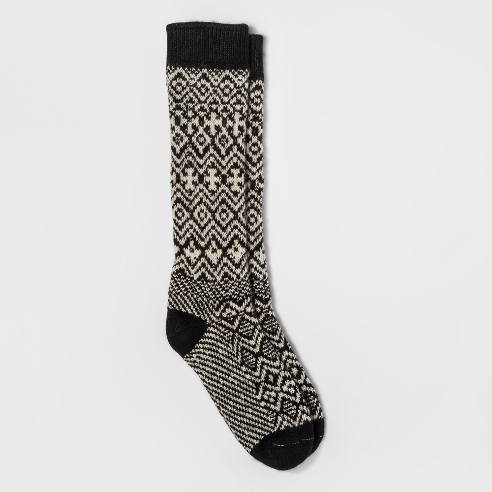 Womens Wigwam Patterned Boot Sock - Black One Size