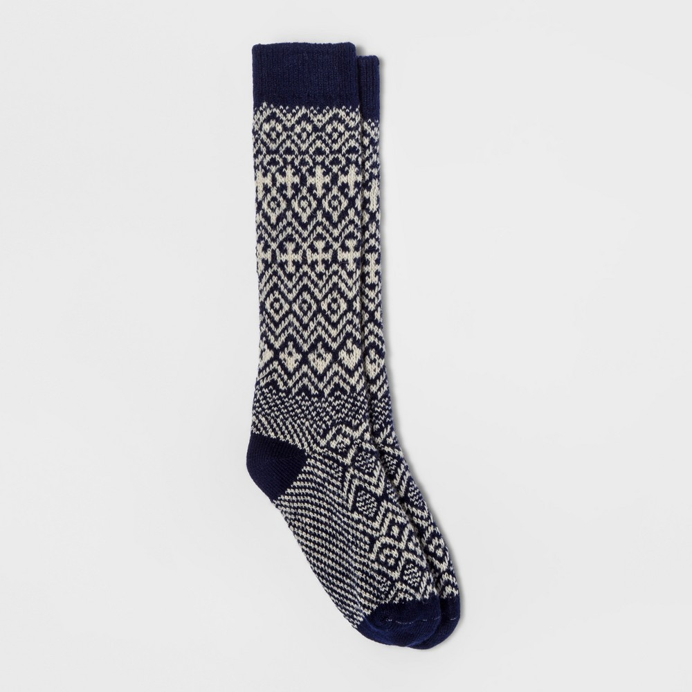 Women's Wigwam Patterned Boot Sock - Navy (Blue) One Size