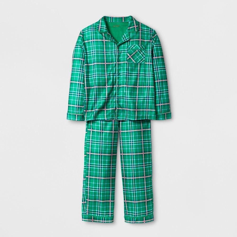 Boys Poly Brushed Micro Jersey Pajama Set - Cat & Jack Green M