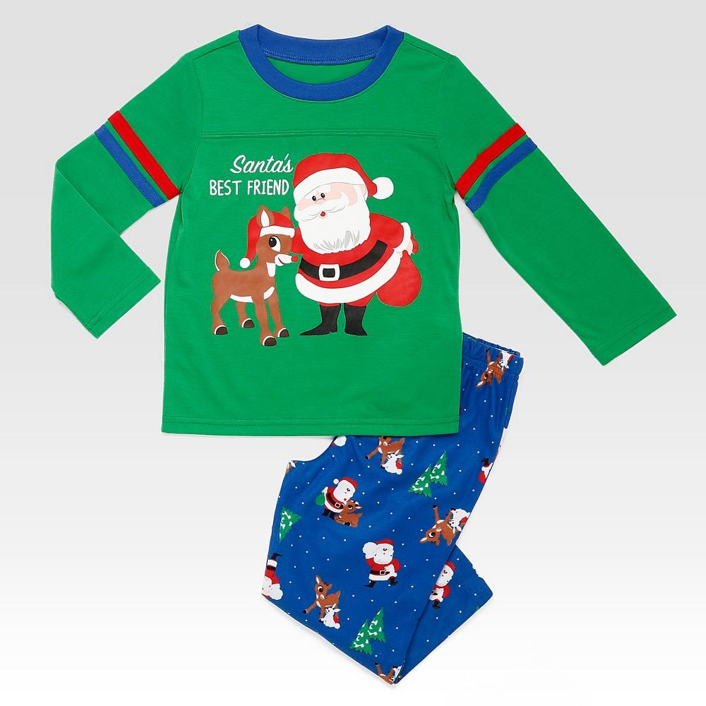 Rashti & Rashti Rudolph the Red-Nosed Reindeer Toddler Boys 2pc Santas Best Friend Lounge Set - Green 2T
