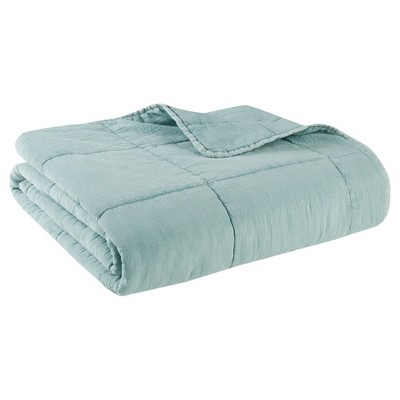 Aqua Casper Quilted Throw (50x60 )