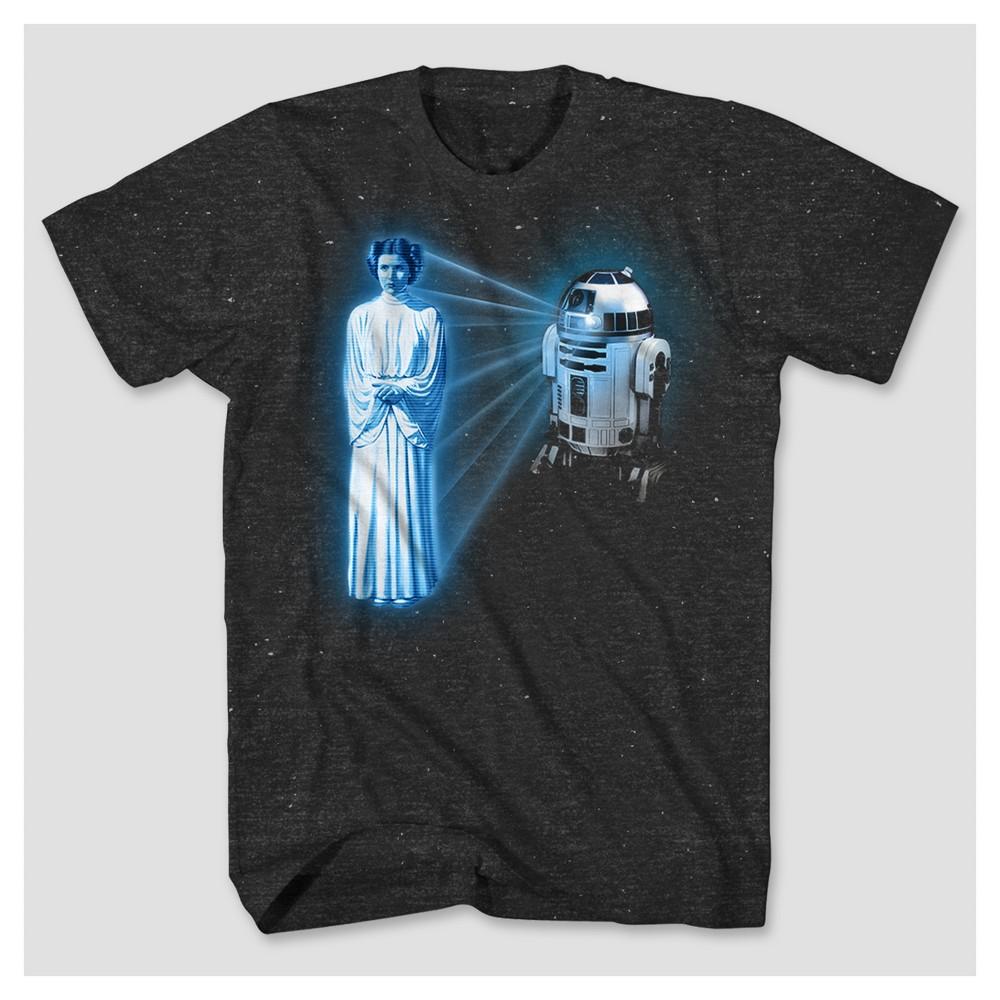 Mens Star Wars Princess Leia T-Shirt - Black/White M, Size: Small