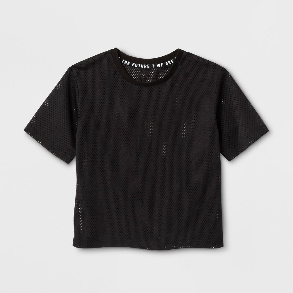 Girls Mesh T-Shirt - Art Class Black M