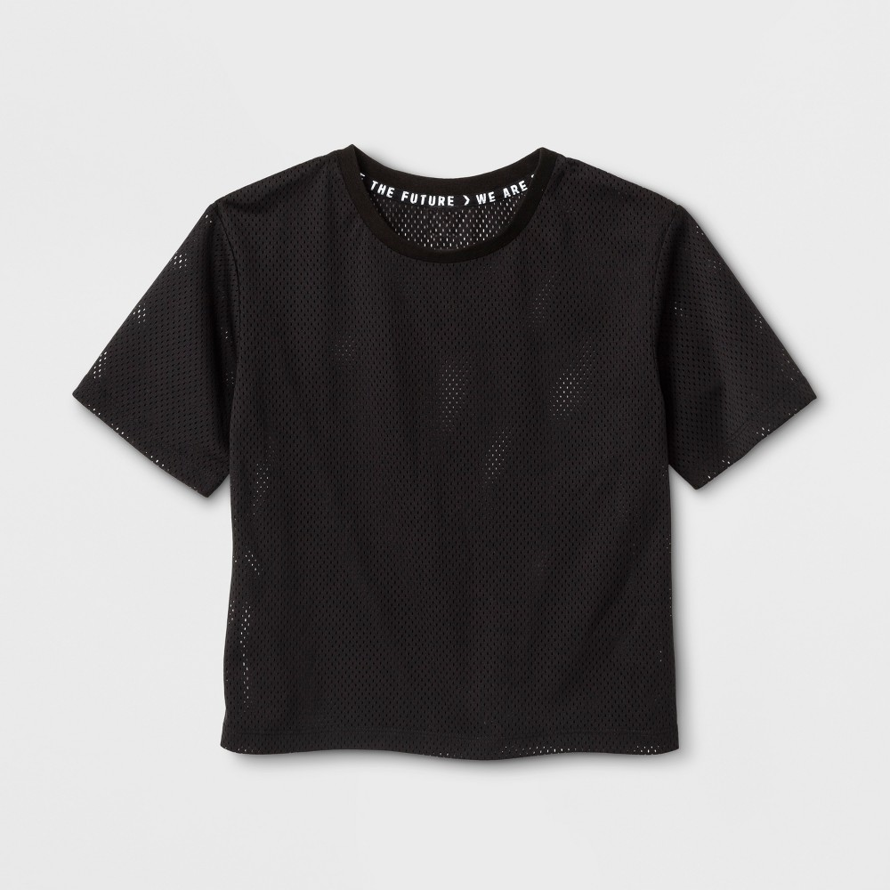 Girls Mesh T-Shirt - Art Class Black L