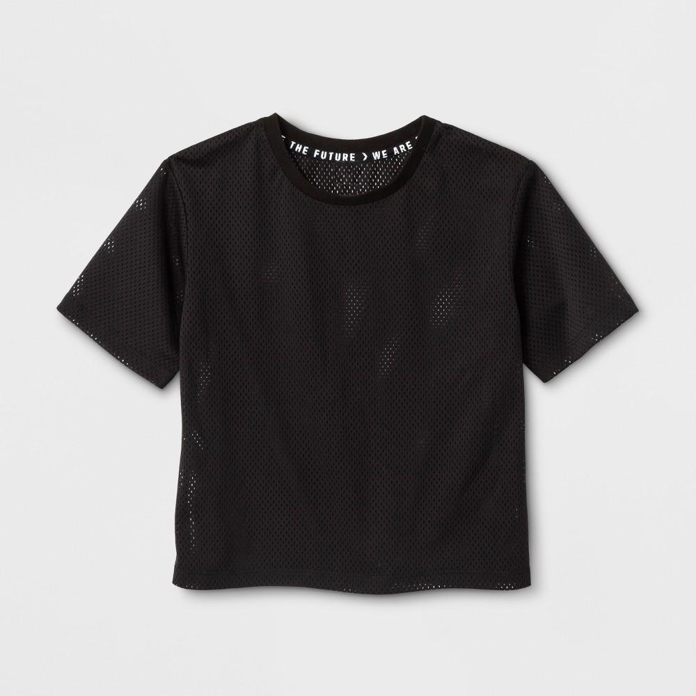 Girls Mesh T-Shirt - Art Class Black XS