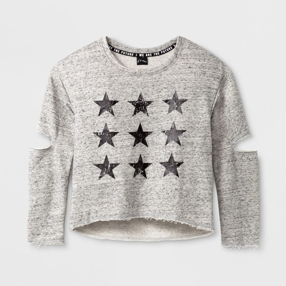 Girls Long Sleeve Star Pullover - Art Class Heather Gray XL