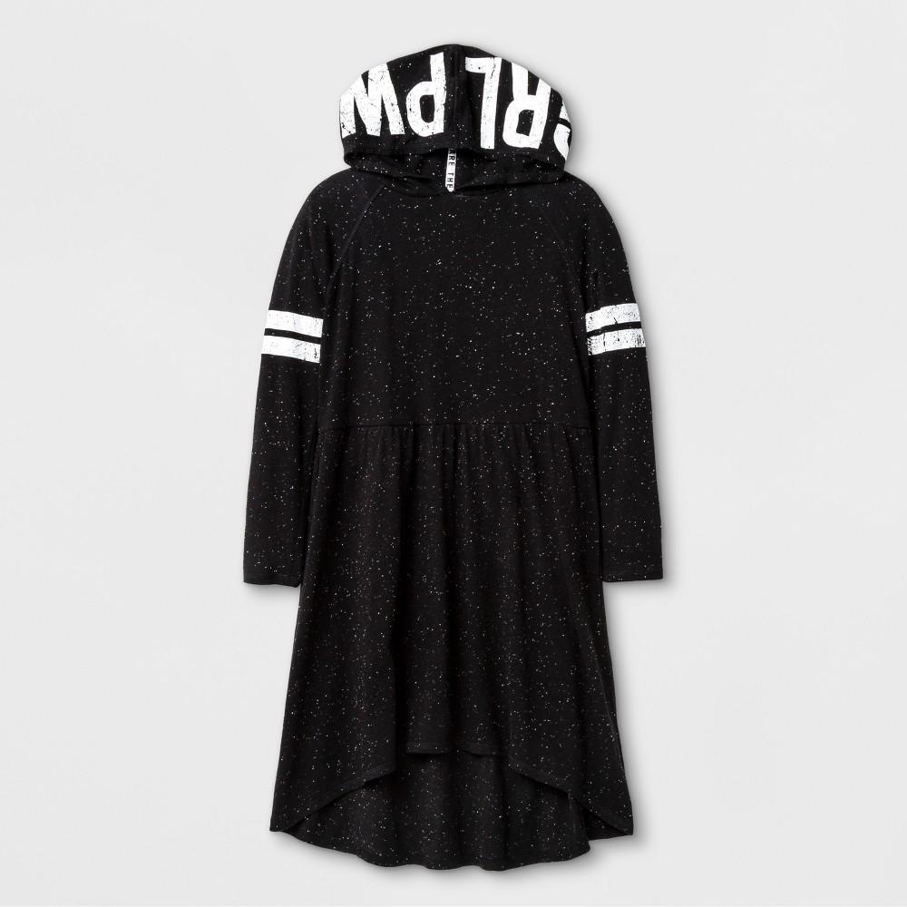 Girls Hooded T-Shirt Dress - Art Class Black S