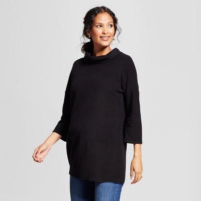Maternity 3/4 Sleeve Cozy Fleece Pullover - Isabel Maternity 3/4 Sleeve by Ingrid & Isabel™ Black XXL
