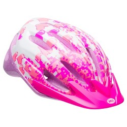 Bell Sports® Blast Child Helmet - Pink/White Pixels Print