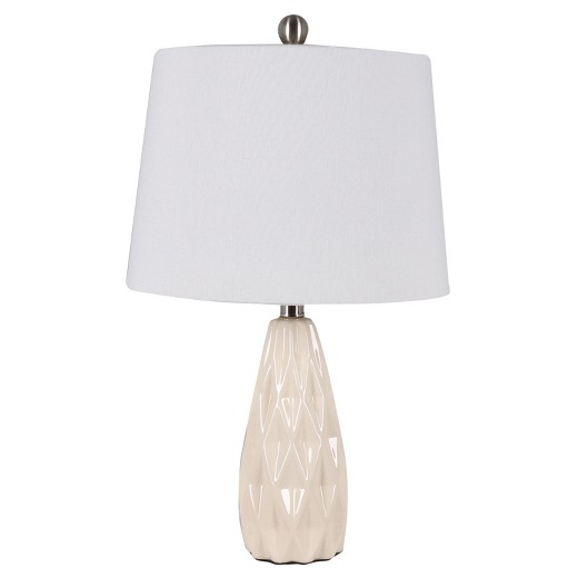 description page 23 ceramic table lamp cream home source