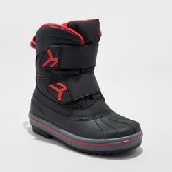 Boys' Neko Double Strap Winter Boots - Cat & Jack™ Black
