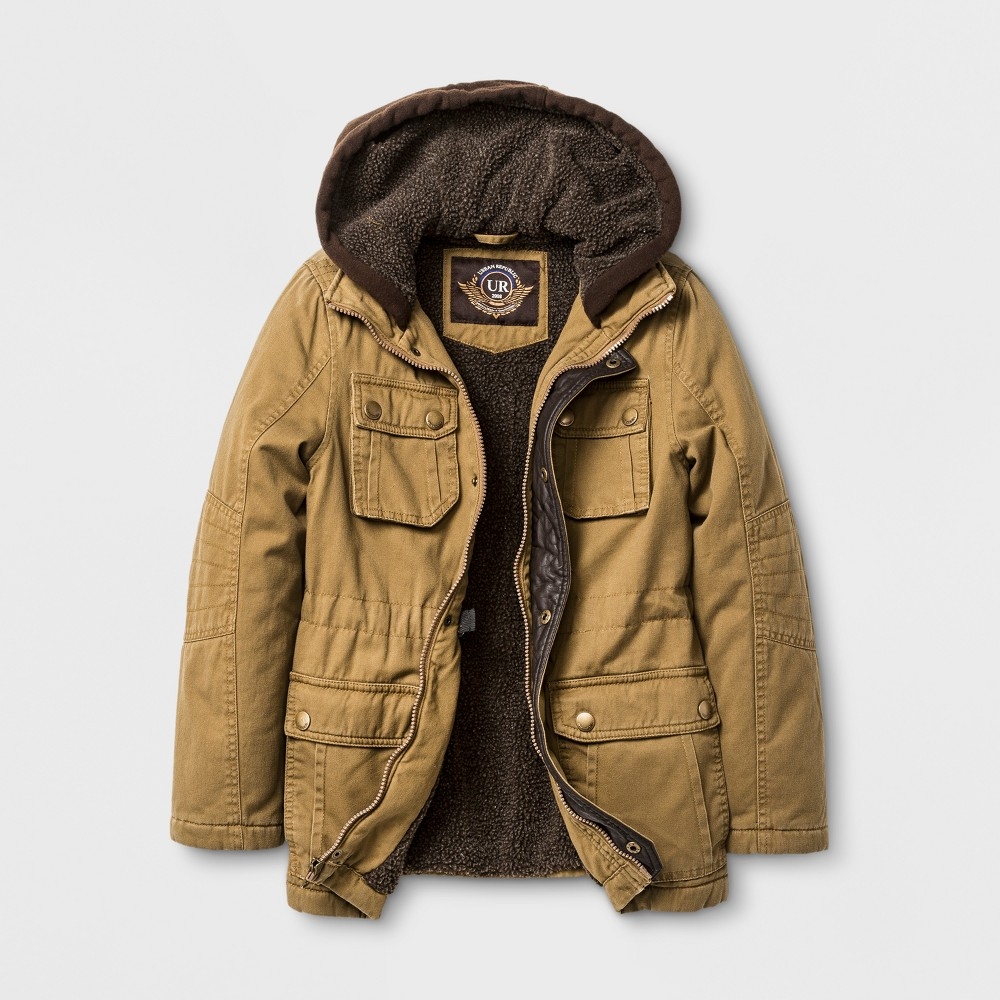 Explorer by Urban Republic Washed Cotton Twill Jacket - Brown 8, Boys