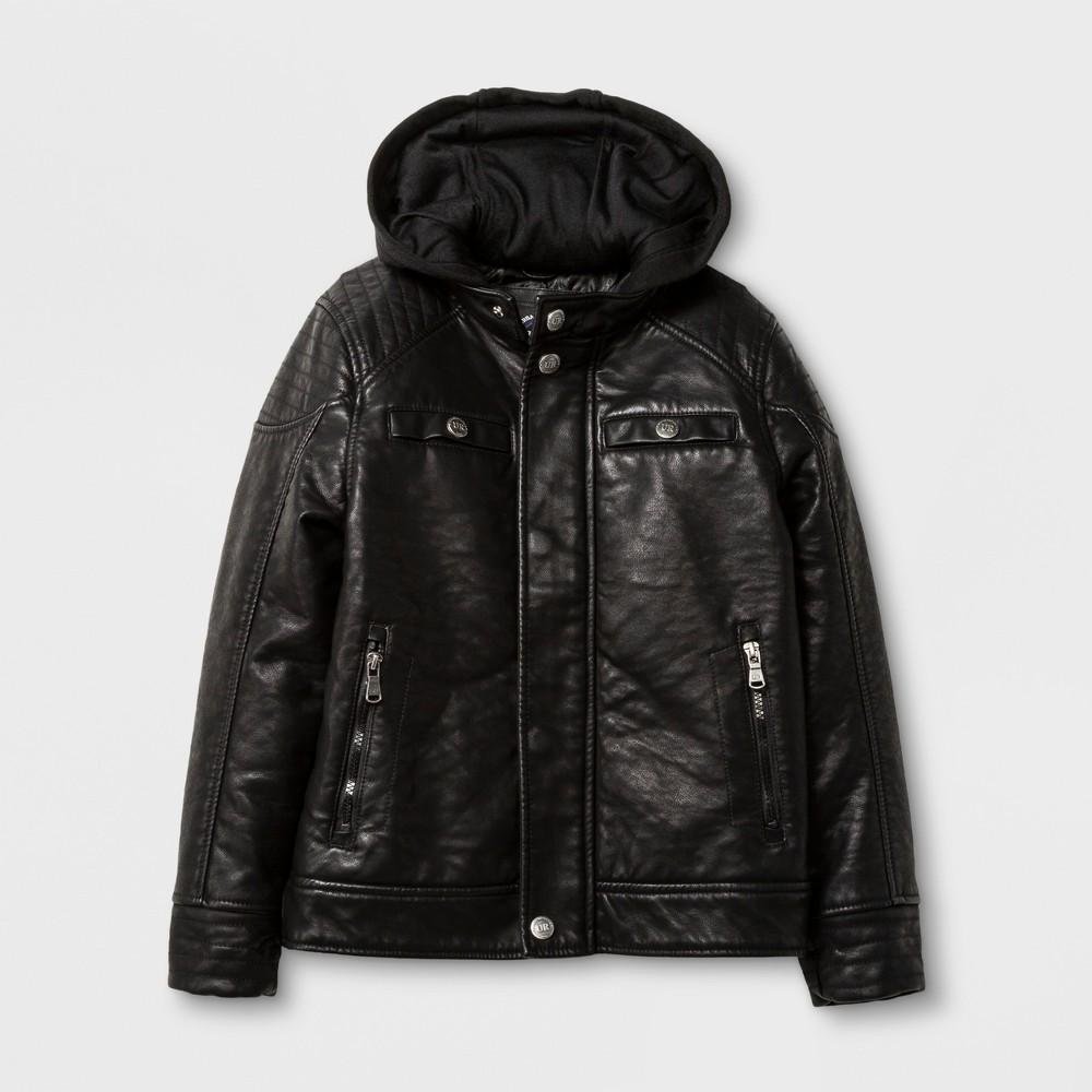 Explorer by Urban Republic Buffalo Faux Leather Jacket - Black 18-20, Boys, Size: 18/20