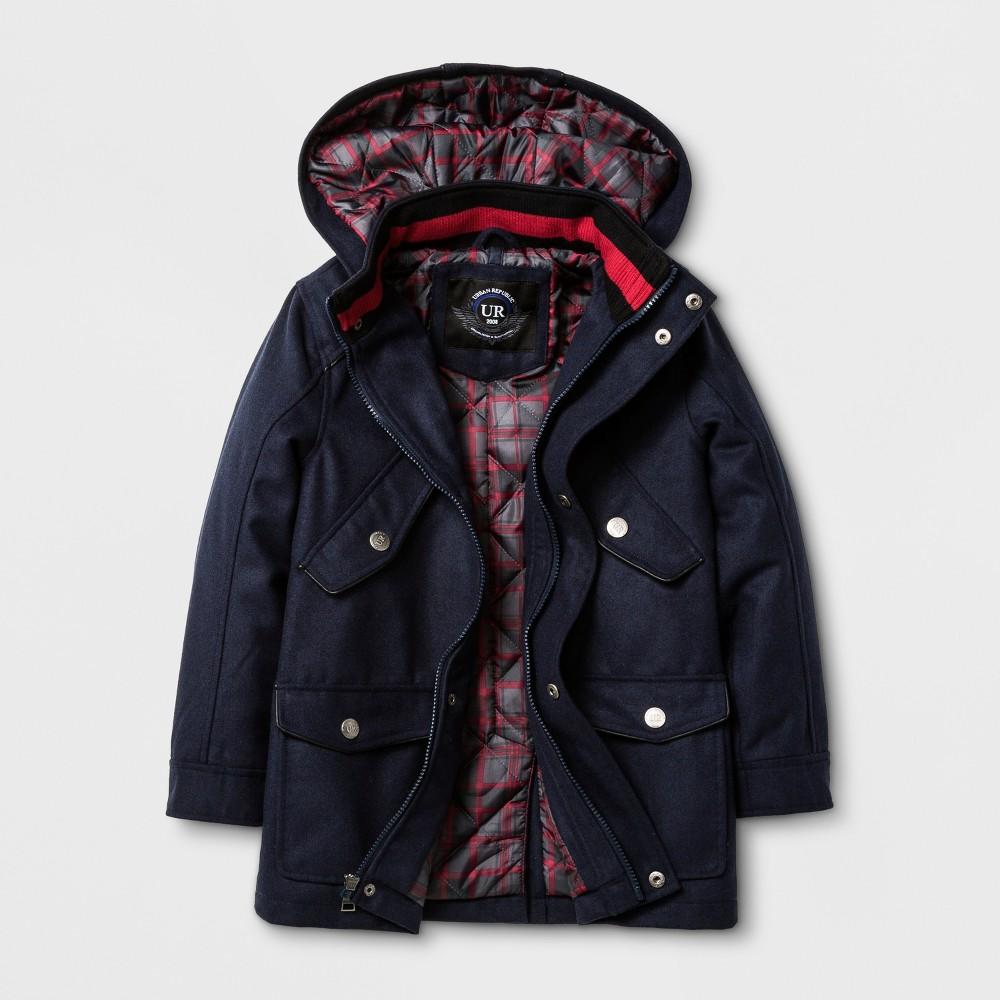 Explorer by Urban Republic Wool Military Jacket - Blue 18-20, Boys, Size: 18/20