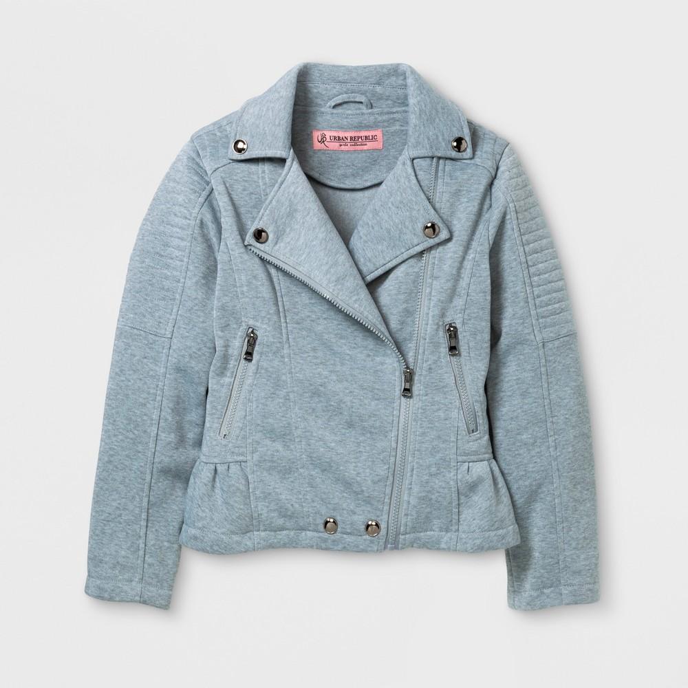 Explorer by Urban Republic Girls Fleece Peplum Jacket - Gray 10-12