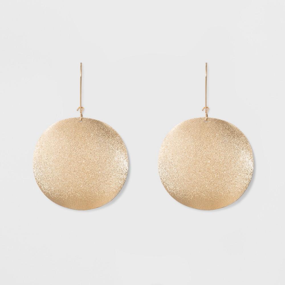 Women's Diamond Dust Disc Earring - Gold