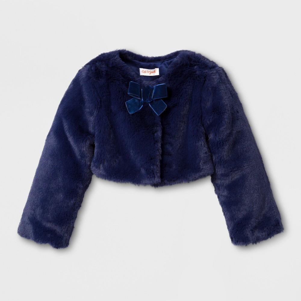 Toddler Girls Jacket - Cat & Jack Navy 18M, Blue