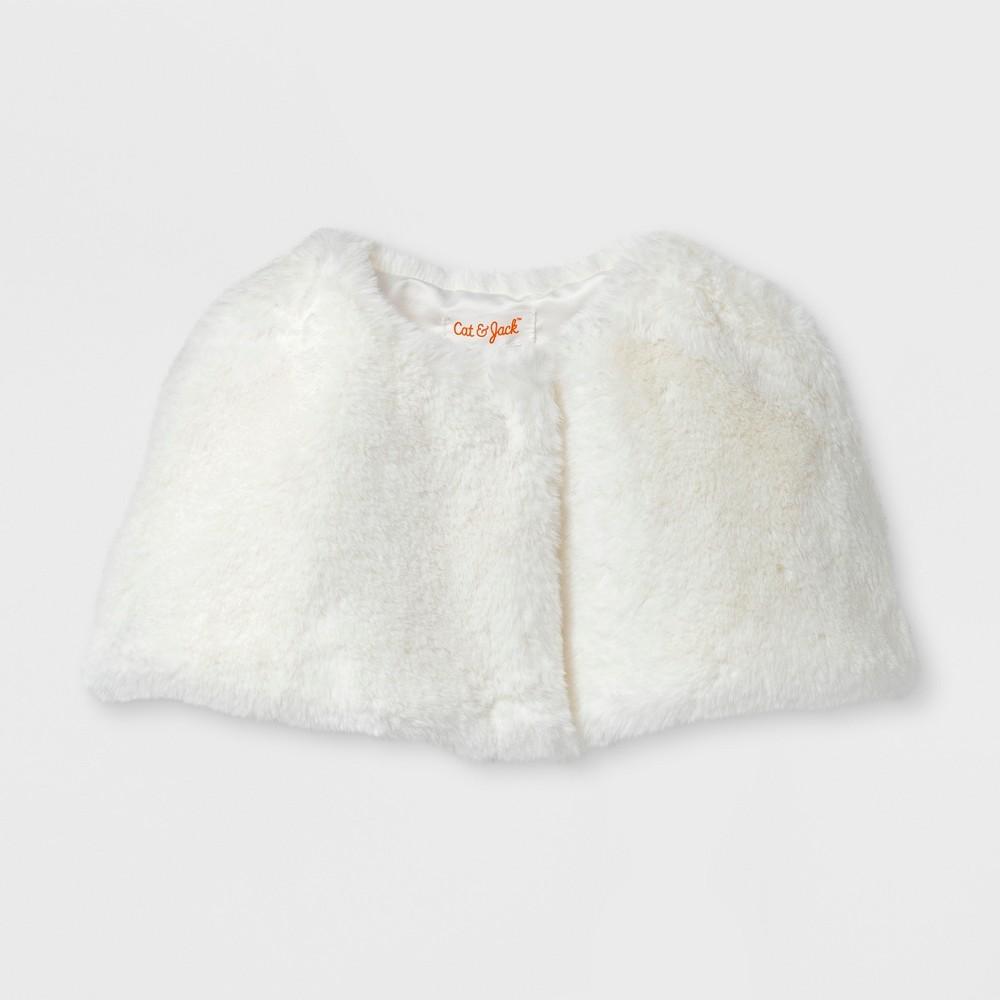 Toddler Girls Jacket - Cat & Jack Ivory 3T, White
