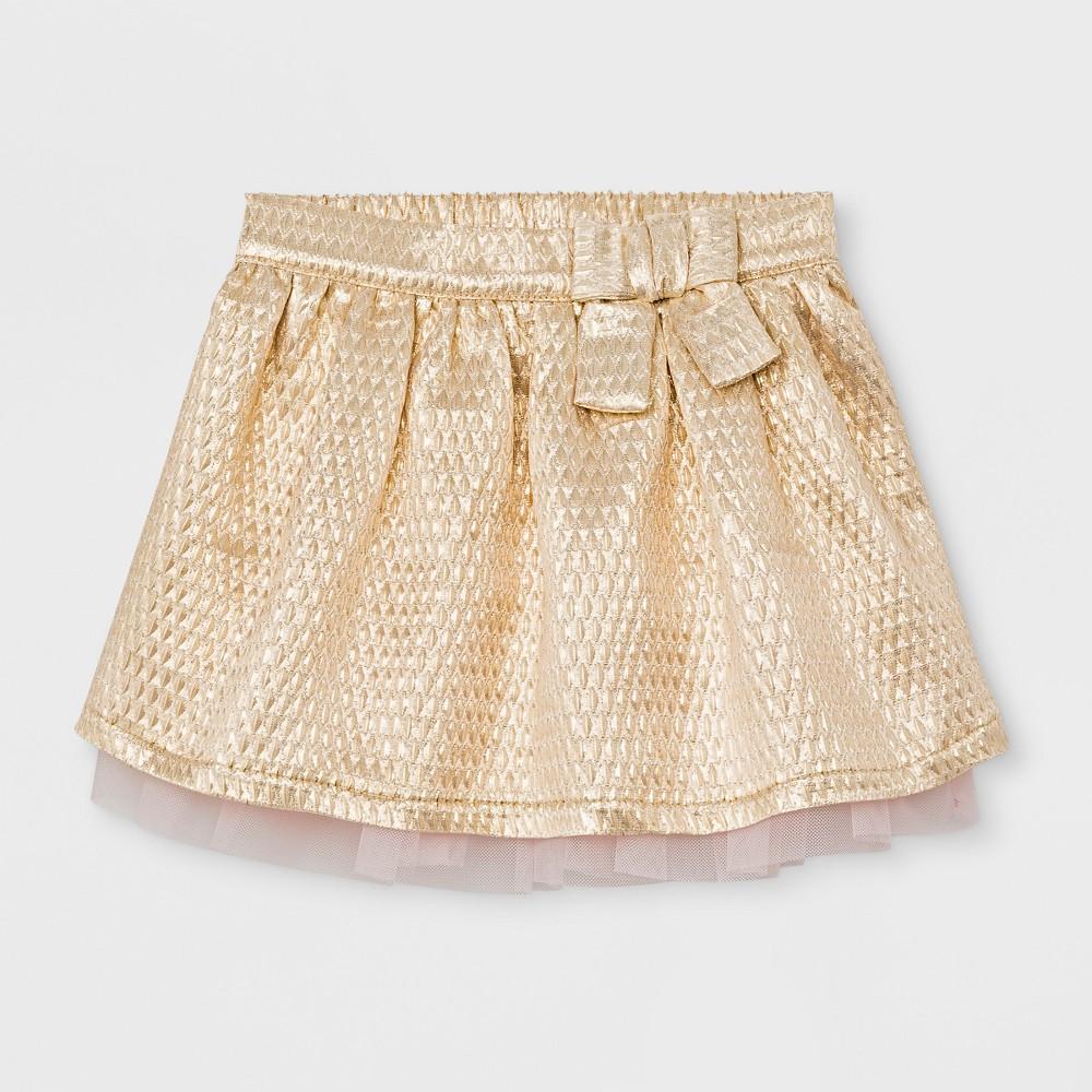 Toddler Girls A line Skirt - Cat & Jack Gold 4T
