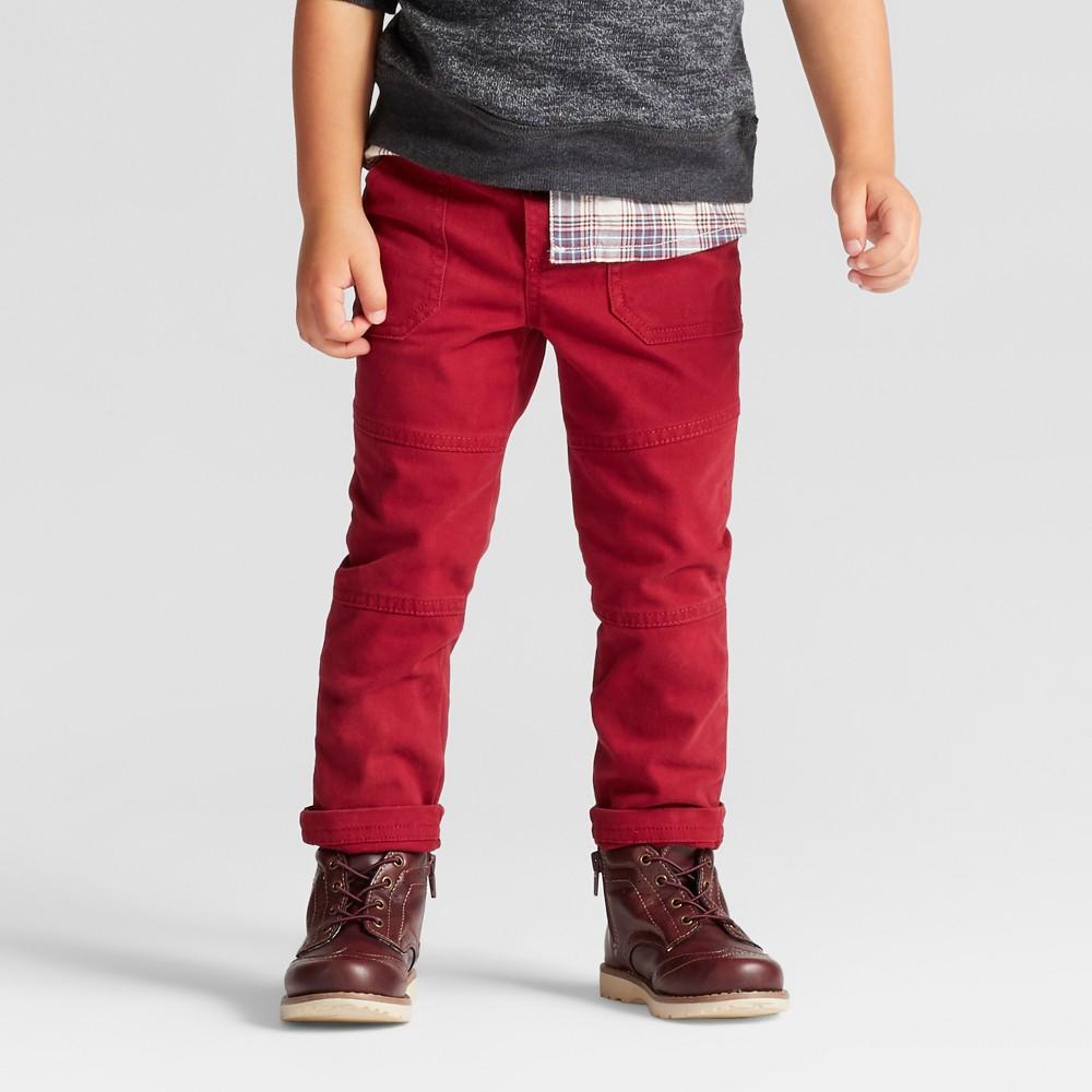 Toddler Boys Chino Pants - Genuine Kids from OshKosh Red 12M