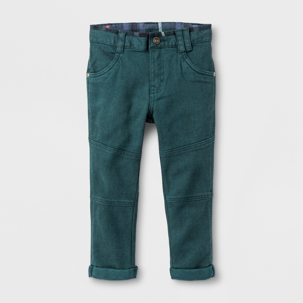 Toddler Boys Chino Pants - Genuine Kids from OshKosh Teal 3T, Green