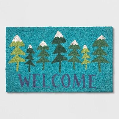 18X30 Tufted Doormat Tree Green - Wondershop™