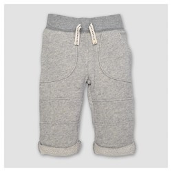 Burt's Bees Baby™ Toddler Boys' Loop Terry Rolled Cuff Pants - Heather Gray
