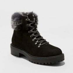 Women's Aaron Faux Fur Tipped Lace Up Fashion Winter Boots - Merona™