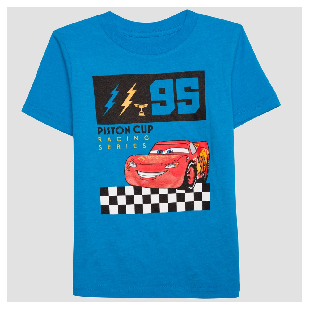 Toddler Boys Lightning McQueen T-Shirt - Bright Blue 5T