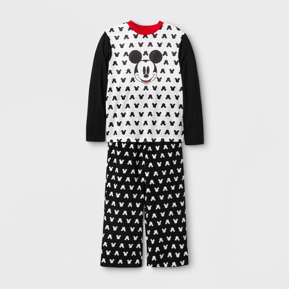 Kids Mickey Mouse 2pc Family Pajama Set - Black 12, Kids Unisex