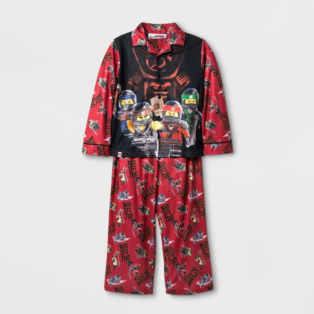 Toddler Boys Lego Ninjago Pajama Set - Red 10-12