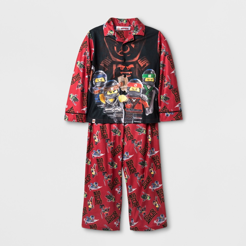 Toddler Boys Lego Ninjago Pajama Set - Red 4-5