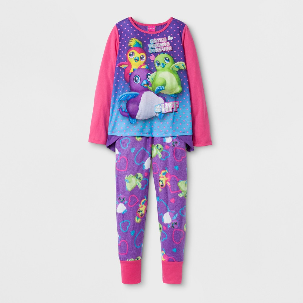 Toddler Girls Hatchimals Spinmaster Pajama Set - Purple 10-12