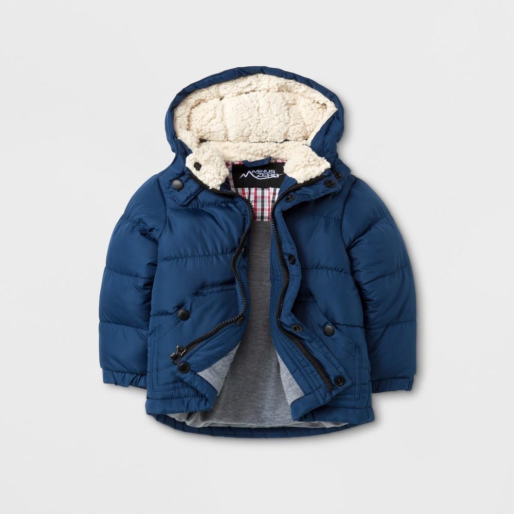 Minus Zero Baby Boys Puffer Jacket - Blue 24 Months