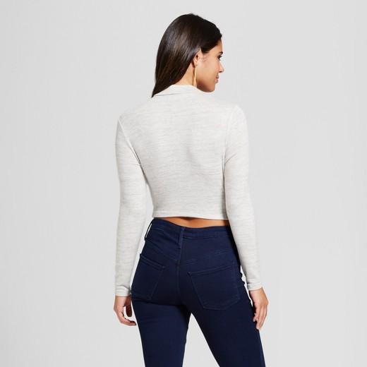 Women's Long Sleeve Wrap Front Cropped Sweater - Xhilaration ...