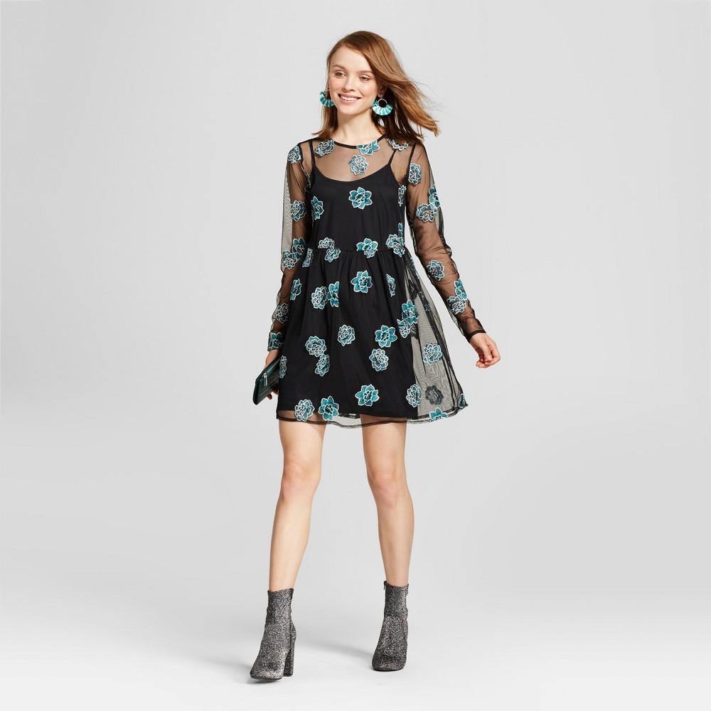 Womens Mesh Babydoll Dress - Xhilaration (Juniors) Black XL