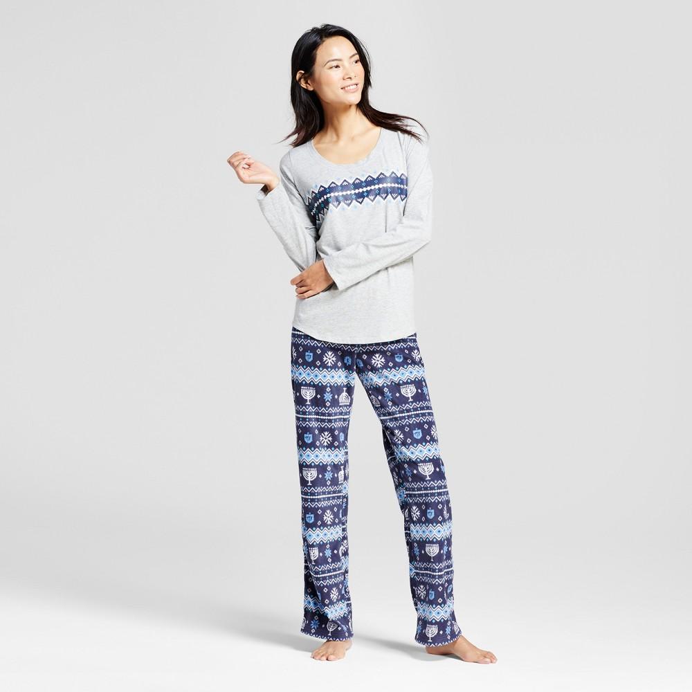 Womens Hanukkah Pajama Set - Heather Gray XL - Wondershop