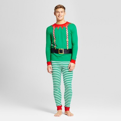 Men's Elf Family Pajama Set - Wondershop™ Green XL