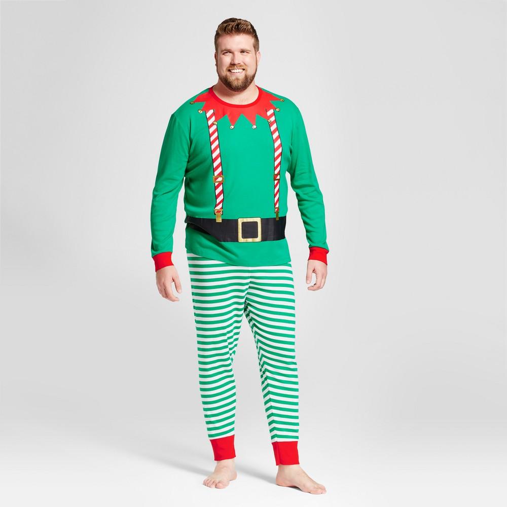 Pajama Set Wondershop Growing Garden 4XB Tall, Mens, Size: 4XBT, Green