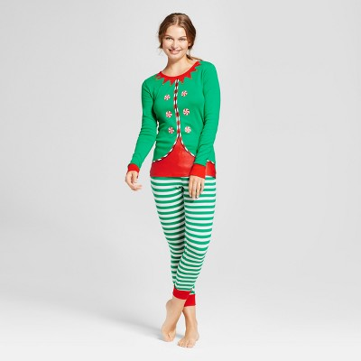Women's 2pc Pajama Set - Wondershop™ Green M