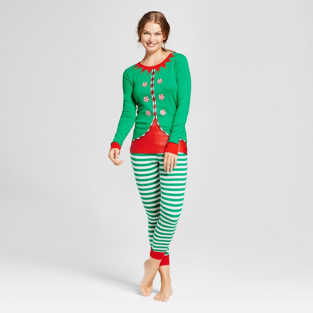 Womens Pajama Set - Green M - Wondershop