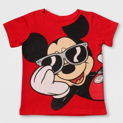 Disney Toddler Boys' Mickey Mouse Short Sleeve T-Shirt - Red