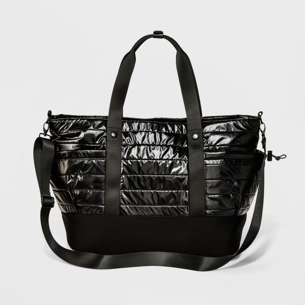 Womens Shine Tote Bag - JoyLab Black