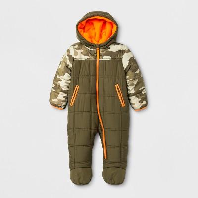 Minus Zero Baby Boys' Snowsuit - Olive 3-6 M